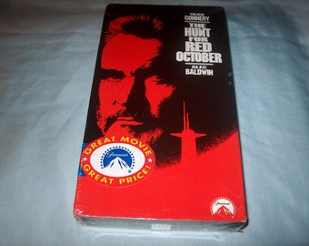 Vintage VHS Movie, Factory Sealed, The Hunt for Red October, 32020, Home Movie