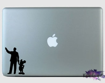 Walt Disney and Mickey Mouse Car Decal
