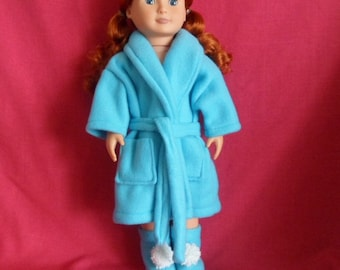 18 inch Doll Robe and Slippers