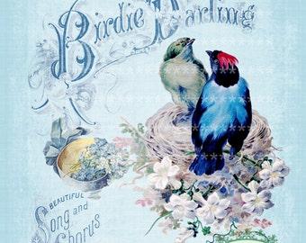 Vintage music Birdie Darling Large digital download ECS buy 3 get one free single image printable