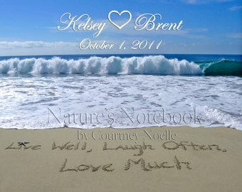 Unique Beach Wedding Gift  Day Gift Personalized Beach Photograph-Same Day Pick Up