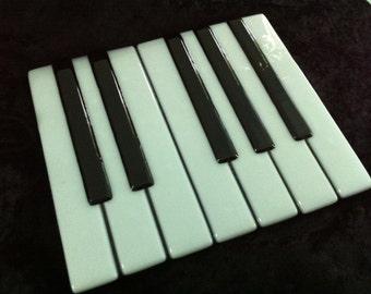 Fused Glass Piano Keys