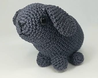 Thread crocheted Holland lop bunny rabbit soft toy stuffy