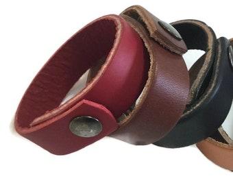 Leather Cuffs Narrow Wristband Narrow Cuff  Wrist Cuff Leather Wristband Leather Pyrography Handmade Cuff Blank Leather Craft -5 x 20mm wide