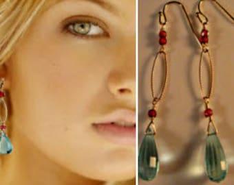 Multi Gemstone Earrings,drop earrings,dangle earrings,garnet earrings,birthstone earrings,hoop earrings,gold earrings,gold hoop earrings