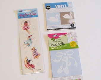 Little Girls Room Stencils, Swan, Ballerina, Fairies ,Vinyl,
