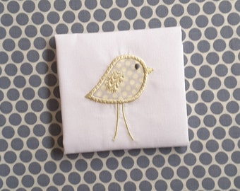Baby Bird Applique Machine Embroidery Design  Instant Download