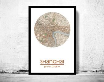 SHANGHAI - city poster - city map poster print