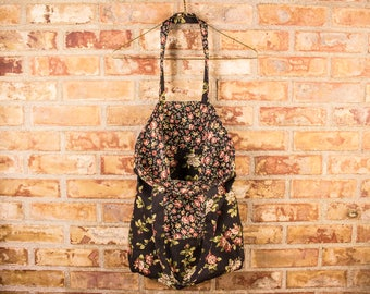 Reversible Tote Bag, Floral Tote Bag, Rose Tote