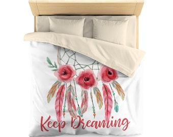 Dream Catcher, keep dreaming,  Duvet Cover, watercolor, bedroom decor