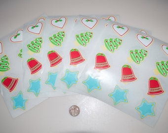 Mrs. Grossman's Vintage Christmas Cookie Sticker Stickers Lot of 60 from 1986