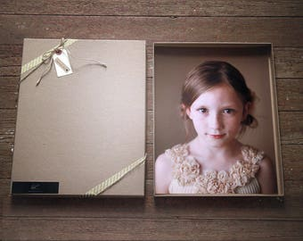 Photography Boxes for 8x10 prints - Recycled Kraft | Set of 40 Recycled Brown Boxes, Presentation Box, Folio Boxes, Art Presentation, Print