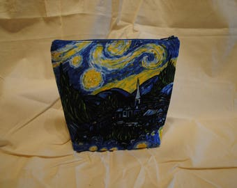 Two Tone Makeup Bag - Starry Starry Night