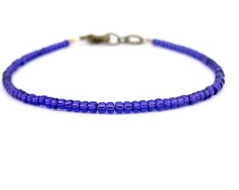 Purple Friendship Bracelet, Seed Bead Bracelet, Purple Rain, Beaded Bracelet, Friendship Bracelet, Petite Modern, Yoga Zen Bracelet