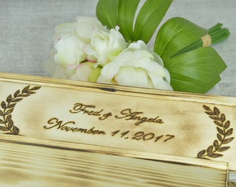 Personalized Wine Box Custom Keepsake Time Capsule Wedding Gift