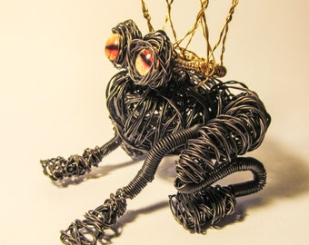 Frog Prince - Wire Sculpture