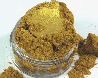 Not Shy Bright Yellow Gold Metallic Mineral Eye Shadow 10g Sifter Jar Gray eyeshadow Vegan Natural mineral Mica Makeup