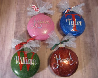 3700 glitter ornament with name