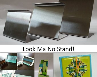 Look Ma No Stand! Fused Glass Slumping Forms narrow large 12x6x4