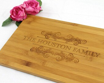 Personalized cutting board, custom chopping board, cheese and wine wooden board 32cm x 20cm