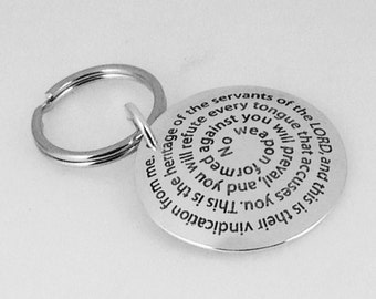 Custom Quote Hand Stamped Keyring by donnoadesigns