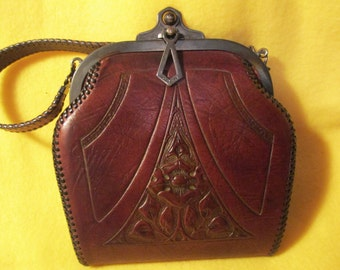 Vintage Art Nouveau purse from the 20's made by Reedcraft.