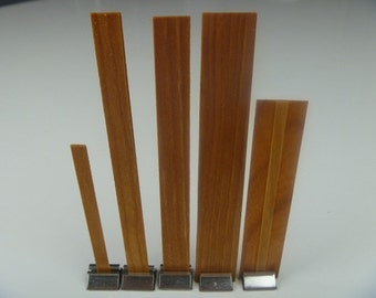 Wood Candle Wicks - 10 - 1/2in wide x 5in - Medium Crackle for candle making