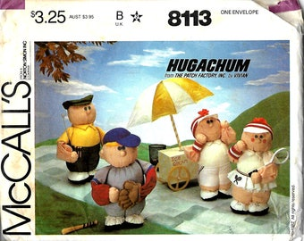 McCall's 8113 Hugachum Sports Figures Doll Pattern, The Patch Factory, UNCUT