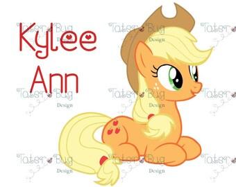 My Little Pony Applejack T-Shirt Transfer (Digital File only)