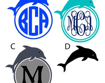 Dolphin decals with monogram