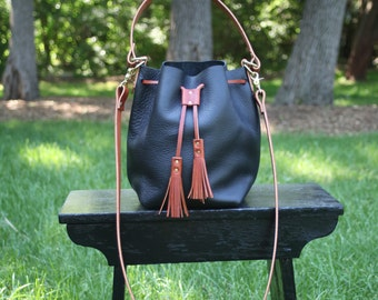 Black and Brown Bucket Bag - The Wild and Free Company