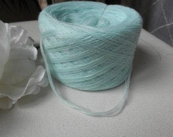 Yarn,teal,ball yarn,blend wool,supplies