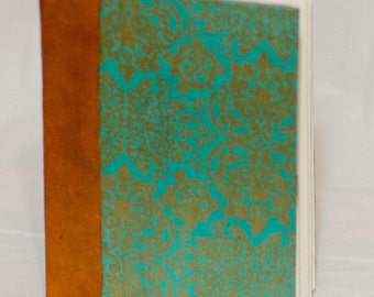 Victorian Patterned Journal with Orange and Gold Accents