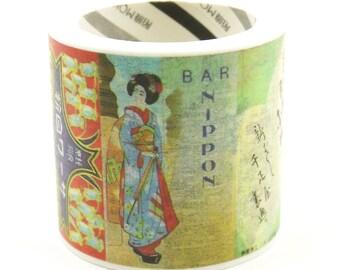Geisha - Japonisme Series 09 - Japanese Washi Masking Tape - 40mm wide - 5.5 yard