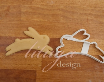 Bunny cookie cutter, Easter ookie cutter, Bunny cookie for Easter - Jumping bunny