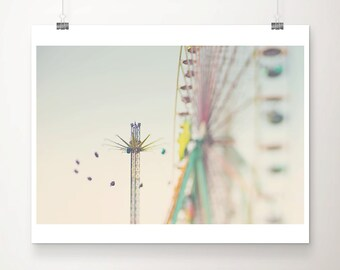 ferris wheel photograph carnival photograph nursery wall art pastel home decor ferris wheel print carnival print