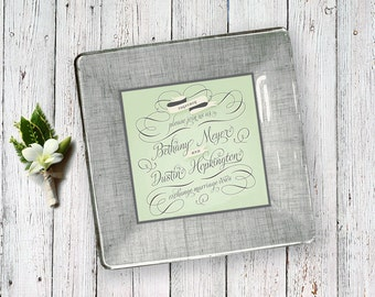 Wedding invitation keepsake - for couples - unique gift idea for parents - wedding invitation plate - 1st anniversary gift -