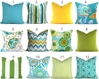 Turquoise Outdoor Pillow ANY SIZE Outdoor Cushions Outdoor Pillow Covers Decorative Pillows Outdoor Cushion Covers Best Pillow OD You Choose