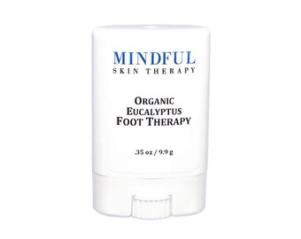 Organic Eucalyptus Foot Therapy with organic jojoba oil, shea & cocoa butters, beeswax 100% natural organic foot balm