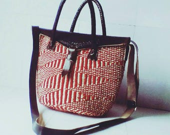 African Bag, African Tote bag, African Purse and African Handbag,kiondo,Handwoven
