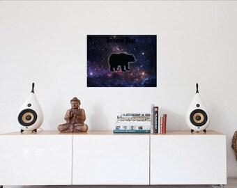 Universe Bear 14x24 printable poster