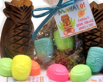 Set of 20 Luau Tiki Soap Party Favor Soap Sets