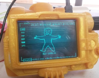 3D Printed Piboy 3000 Mark IV Raspberry Pi 2 Model B/Pi 3 Wearable Case Kit
