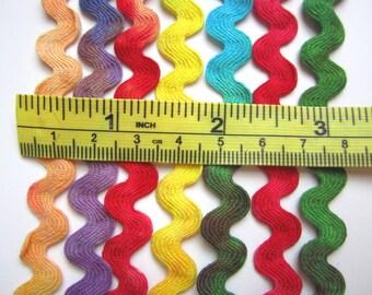 Cotton Rainbow RicRac, Hand Dyed, 8 yards