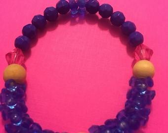 Fidget bead with wood bracelet