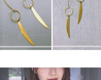 Golden threader Earrings\High-Street Fashion\Design\gifts\birthday gift