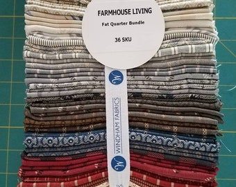 NEW!! Just Arrived...Farmhouse Living Fat Quarter Bundle by Jeanne Horton for Windham Fabrics