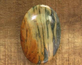 fancy jasper double sided cabochon palmstone