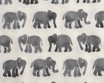 custom baby blanket ~ gray watercolor elephants ~ chic couture ~ baby accessories ~ custom made baby blanket from lillybelle designs