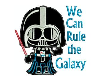 STAR WARS Darth Vader Galaxy  * Machine Applique Embroidery * Instant Digital Download